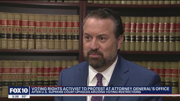 Voting rights activists to protest voter suppression at Arizona AG's office