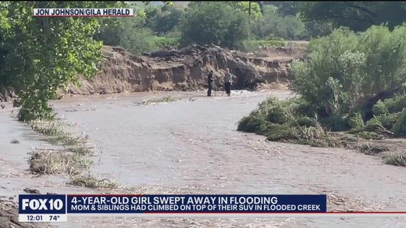 Arizona girl swept away by floodwaters