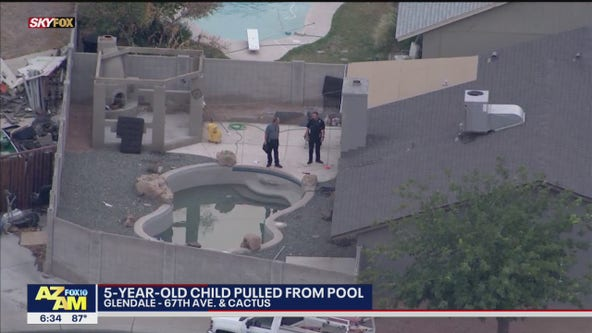 FD: Child pulled from Glendale pool