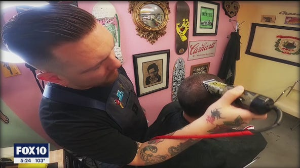 Meet the singing barbers who are doing business in Downtown Mesa