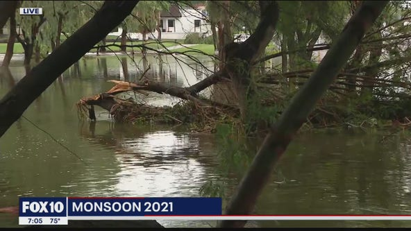 Phoenix-area monsoon storms cause damage, flooding