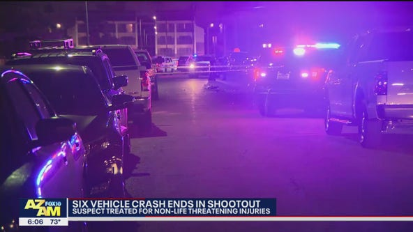 Chandler police shooting, chase ends in 6-vehicle crash