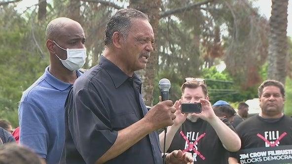 Rev. Jesse Jackson arrested in Phoenix protest on ending the filibuster