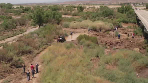 Crews search for missing Arizona girl who was swept away in floodwaters