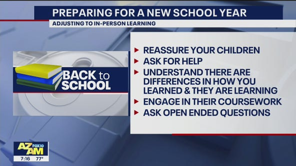 Tips to help children adjust as students begin to return to school