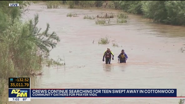 Search continues for Arizona teen swept away in Cottonwood wash