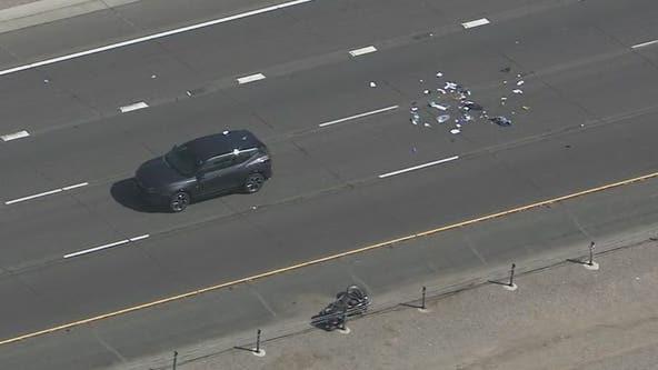 Westbound Loop 202 Santan in Gilbert reopens following serious crash involving motorcycle, SUV