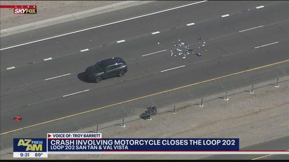 Serious crash involving motorcycle, SUV closes Loop 202 Santan
