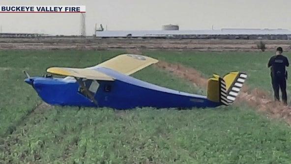 Small plane makes emergency landing near Buckeye Airport