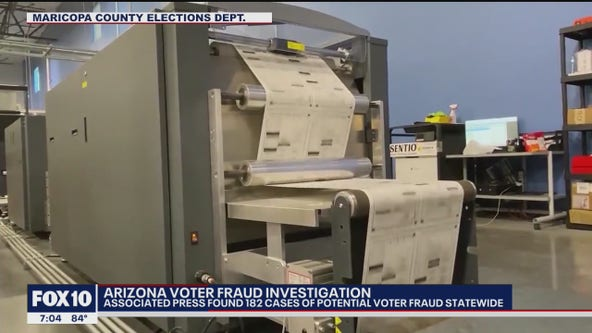 Associated Press finds 182 cases of voter fraud in Arizona