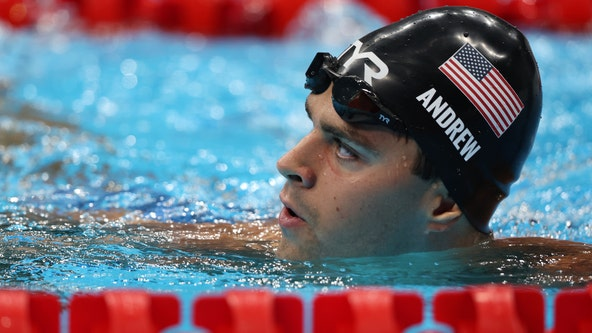 Unvaccinated US swimmer Michael Andrew goes maskless with reporters