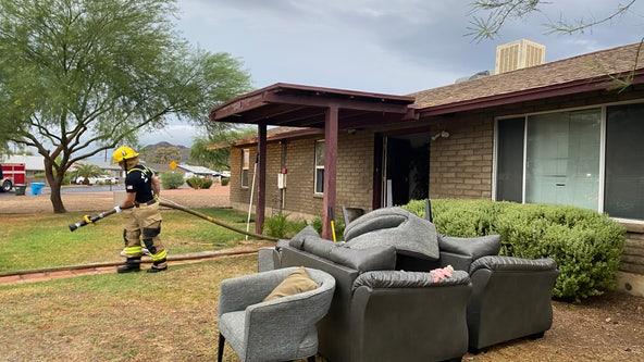 FD: Lightning strikes Phoenix home, sparks attic fire