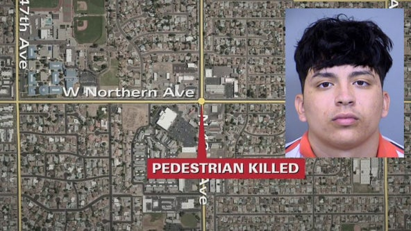 Phoenix pedestrian hit, killed while walking in a crosswalk, police say