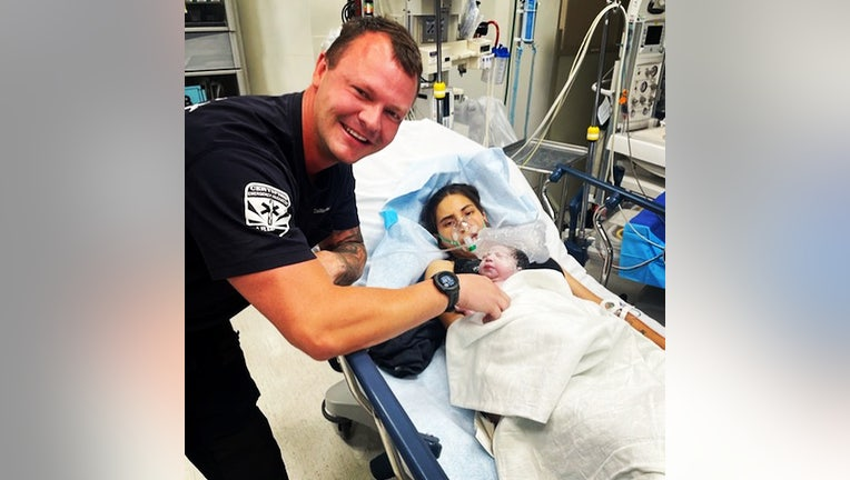 paramedic delivers baby