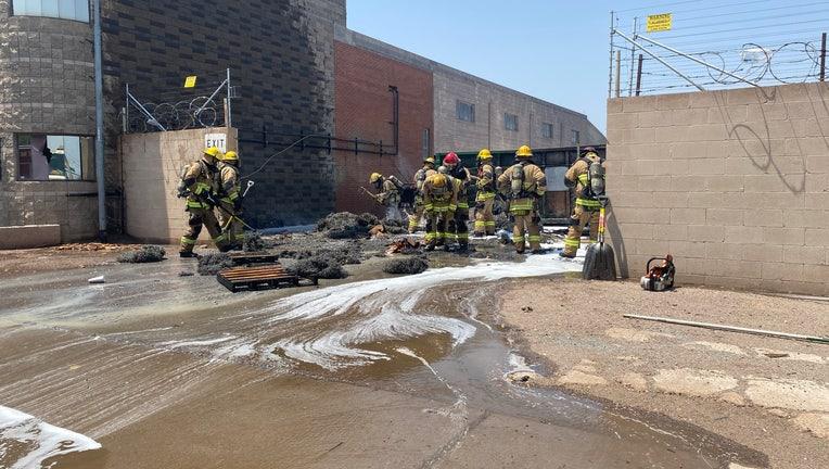 Fire at Davis Metals & Salvage in Phoenix, Arizona. Photo by the Phoenix Fire Department