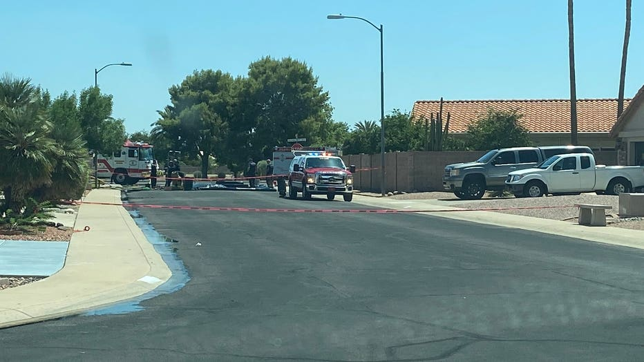 Hazmat situation in Peoria on July 28. Photo by the Peoria Fire and Medical Department