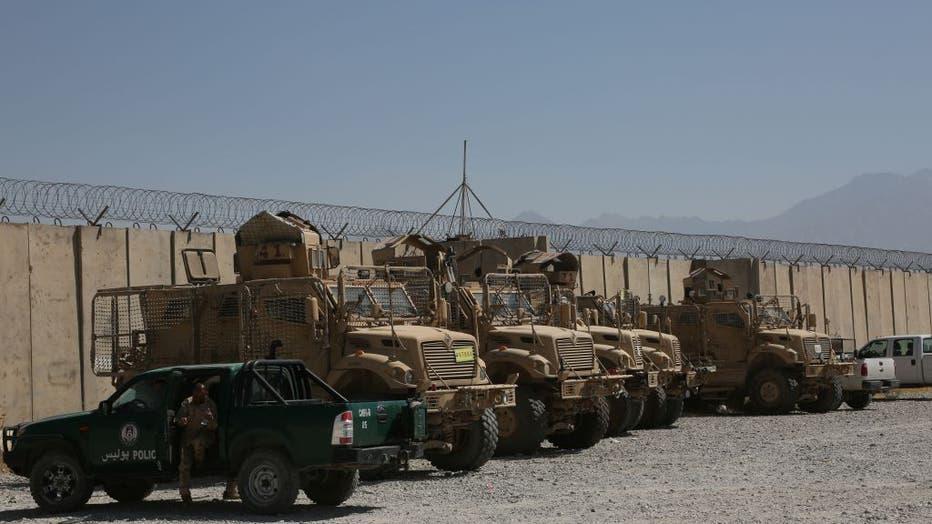 2877a7bf-AFGHANISTAN-PARWAN-BAGRAM AIRFIELD-U.S. AND NATO FORCES-EVACUATING