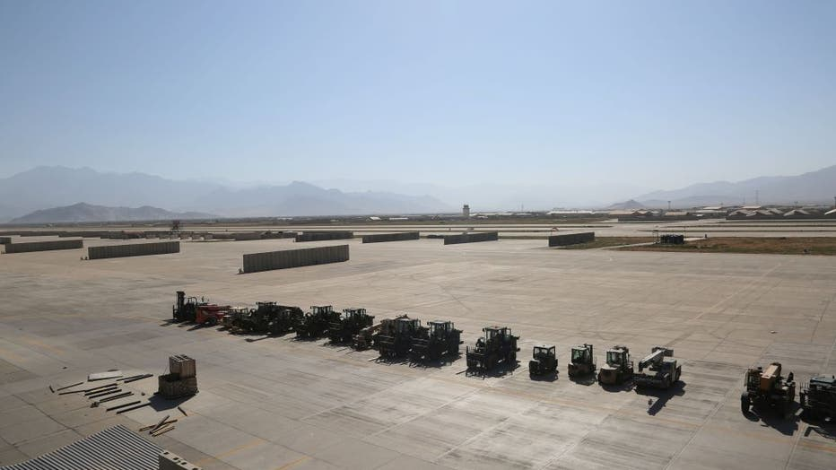 AFGHANISTAN-PARWAN-BAGRAM AIRFIELD-U.S. AND NATO FORCES-EVACUATING