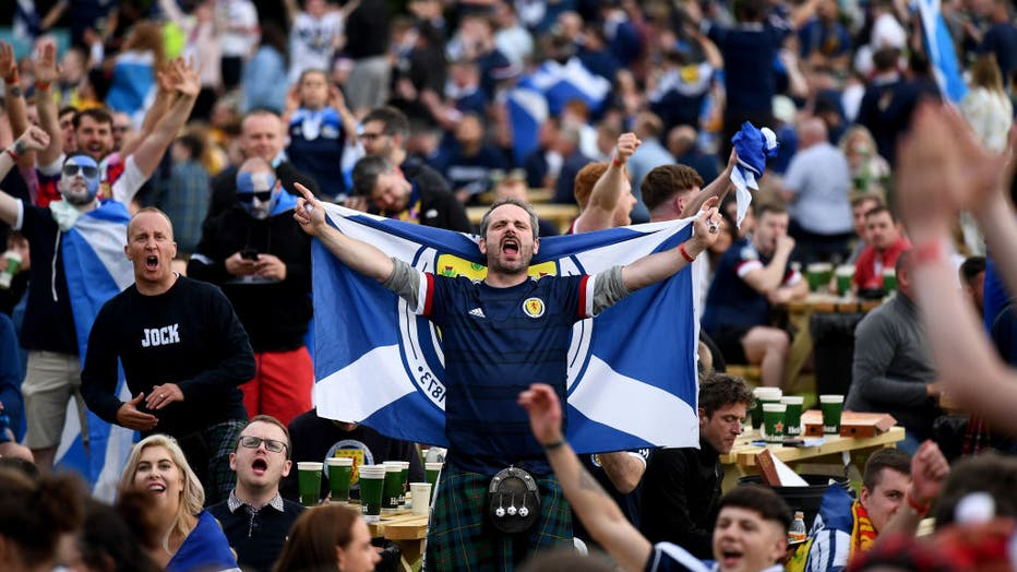 Scotland Football Fans Support Their Team In Euro 2020 Game Against England
