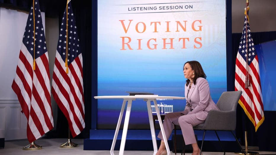 Vice President Harris Holds Voting Rights Event At The White House