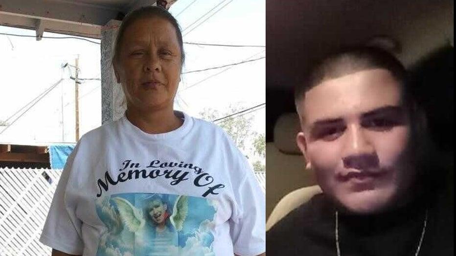Lucy Barragan, 51, and her grandson, Alonso Barragan, 17