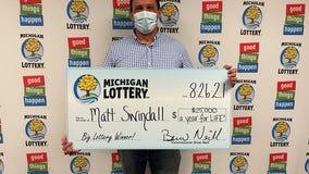 Dearborn Heights man wins $25K for life, wife tells him he's dreaming and went back to sleep