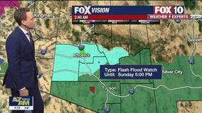 National Weather Service issues flash flood watch for Maricopa, Gila, and Yavapai counties