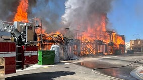 Homes under construction in North Phoenix go up in flames