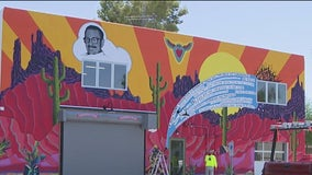 New, colorful mural honors former fire chief near Downtown Phoenix