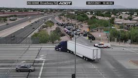 Mesa PD: Armed robbery suspect found dead inside truck on Loop 202 in Mesa