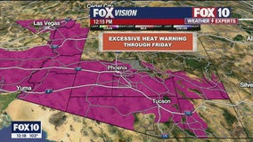 National Weather Service issues Excessive Heat Warning for Phoenix and other parts of Arizona