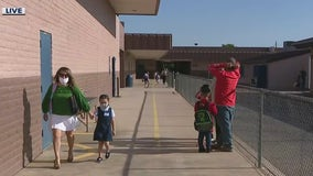 1st day of school at Peralta Elementary