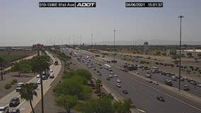 Westbound I-10 blocked due to serious injury collision