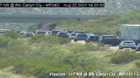 Traffic on I-17 near Black Canyon City begins to flow again, ADOT says