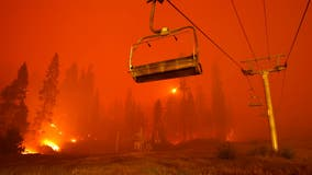 High winds threaten to whip up flames approaching Lake Tahoe