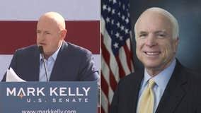 Mark Kelly pays tribute to John McCain in 1st Senate speech