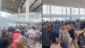 Hurricane Ida: Crowds pack New Orleans airport as all flights canceled