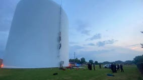 Alabama first responders rescue woman found swimming in 70-foot-high water tank