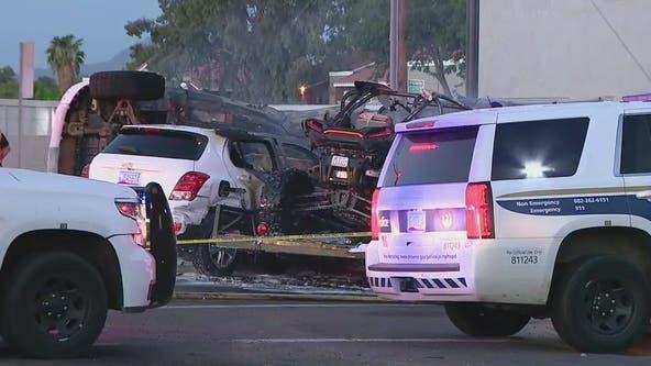 PD: 1 dead, 7 hurt in fiery multi-car crash at Phoenix intersection
