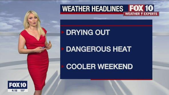 4 p.m. Weather Forecast - 8/3/21
