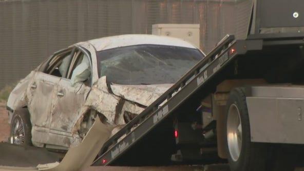 2 critically injured in I-10 crash in East Phoenix