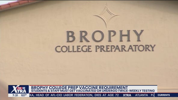 Brophy College Prep to require vaccinations or bi-weekly testing