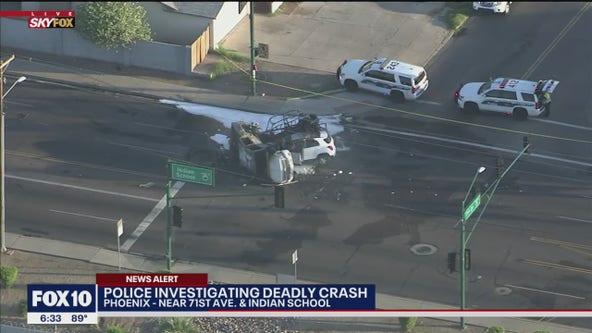 1 dead, 6 hurt in fiery crash at Phoenix intersection