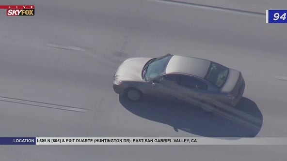 Driver in custody after leading CHP officers on pursuit on the 605, 210 Freeways
