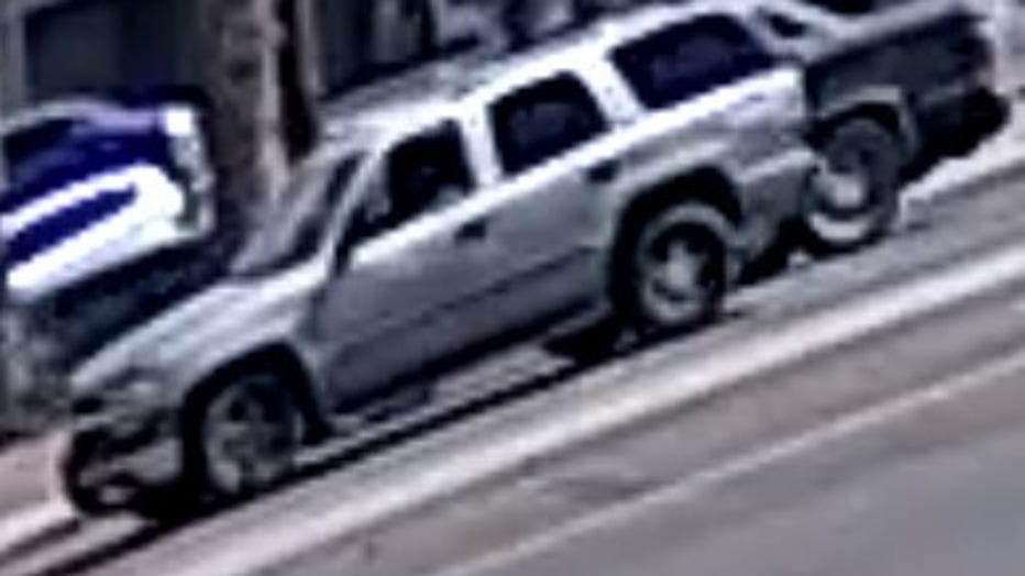 A photo of the suspect's vehicle