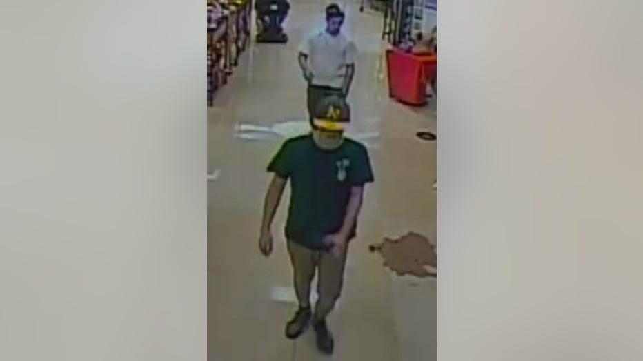 Police say the suspect is one of the three people shown in this photo.
