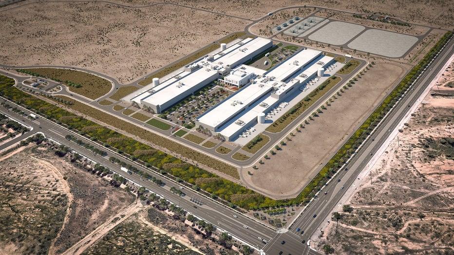 Mesa data center rendering