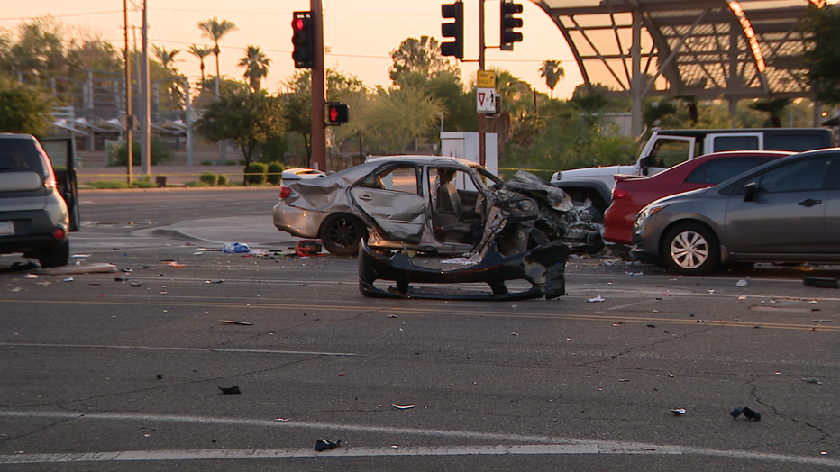 Multi-car crash at Central Avenue and Camelback Road on Aug. 22