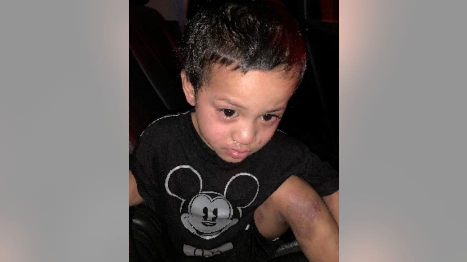 A toddler was found alone outside in Mesa early Sunday morning.