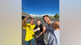Social media influencer stops in Arizona to surprise people with money for being honest